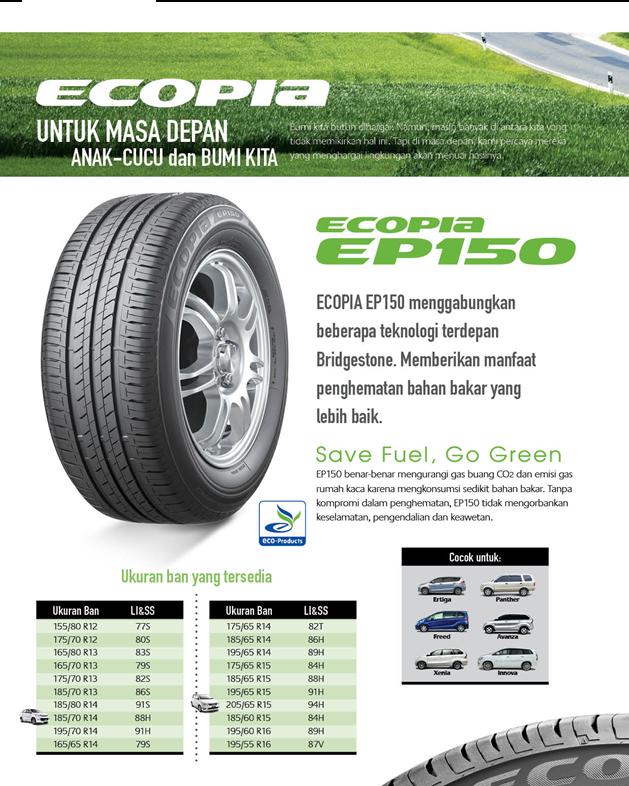 Jual Ban Bridgestone Ecopia 175 65 R14 82T EP150